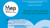 "Seminario LEB ""English Teaching for Human Development"""